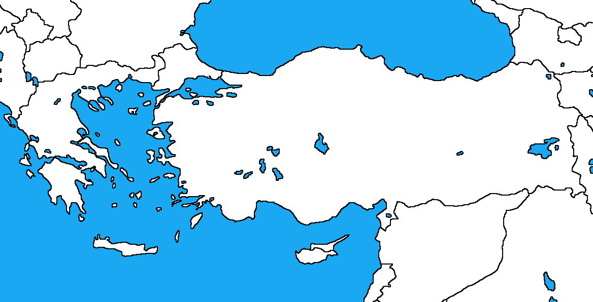 Map Of Greece And Turkey Blank map of Greece and Turkey by DinoSpain on DeviantArt