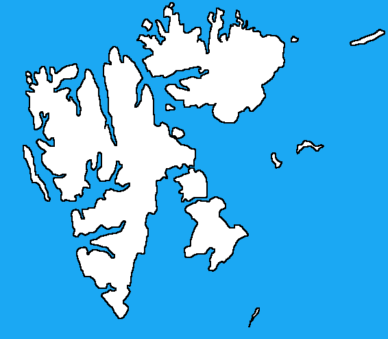 Blank map of Svalbard by DinoSpain on DeviantArt