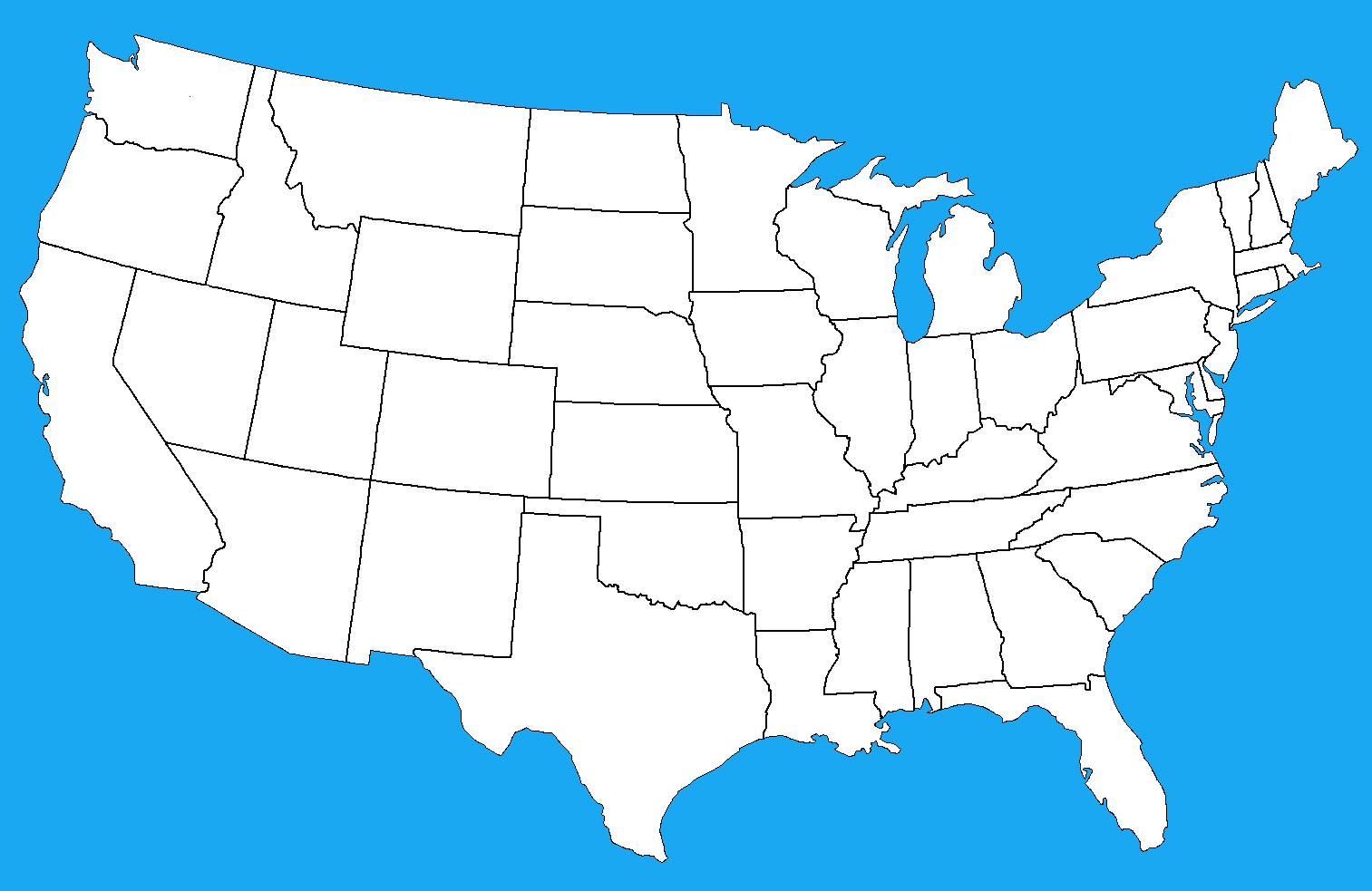 Blank Map Of Mainland Usa By Dinospain