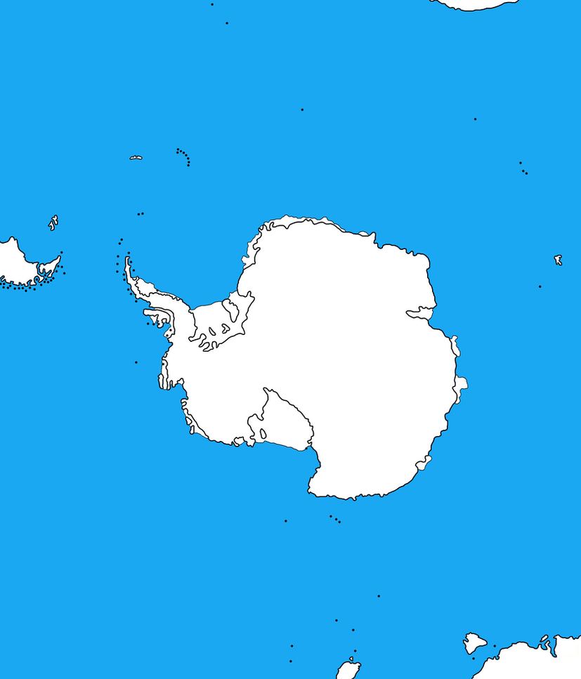 Blank Map Of The Antarctica (V.2.