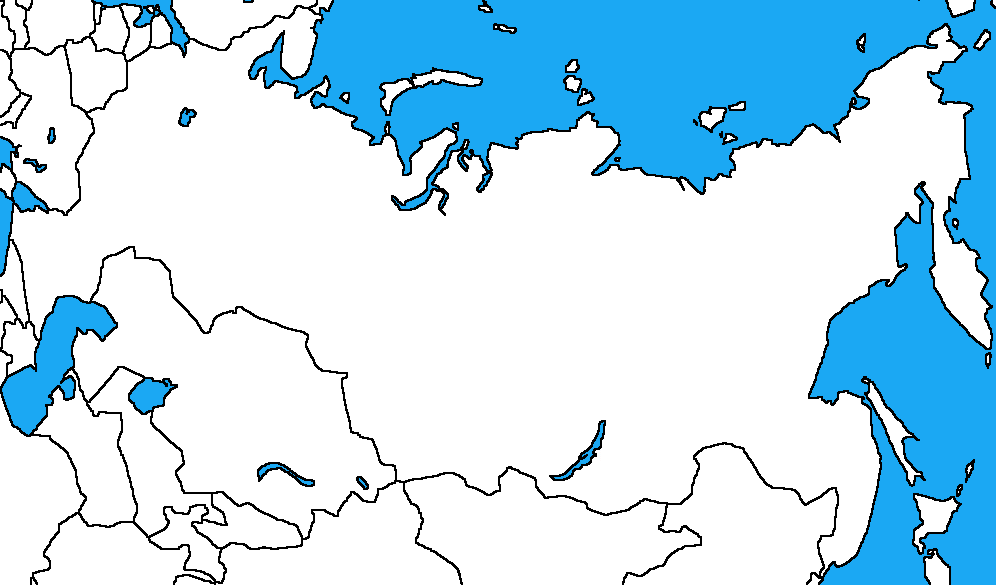 Blank map of Russia by DinoSpain on DeviantArt