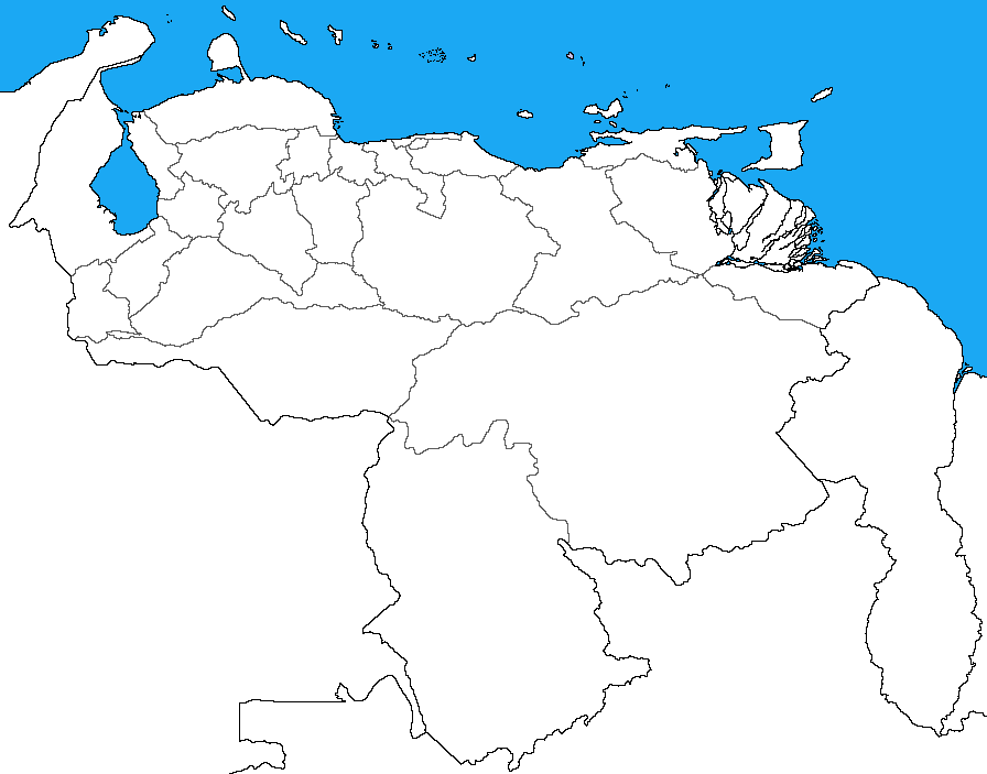 Blank map of Venezuela with subdivisions by DinoSpain on DeviantArt
