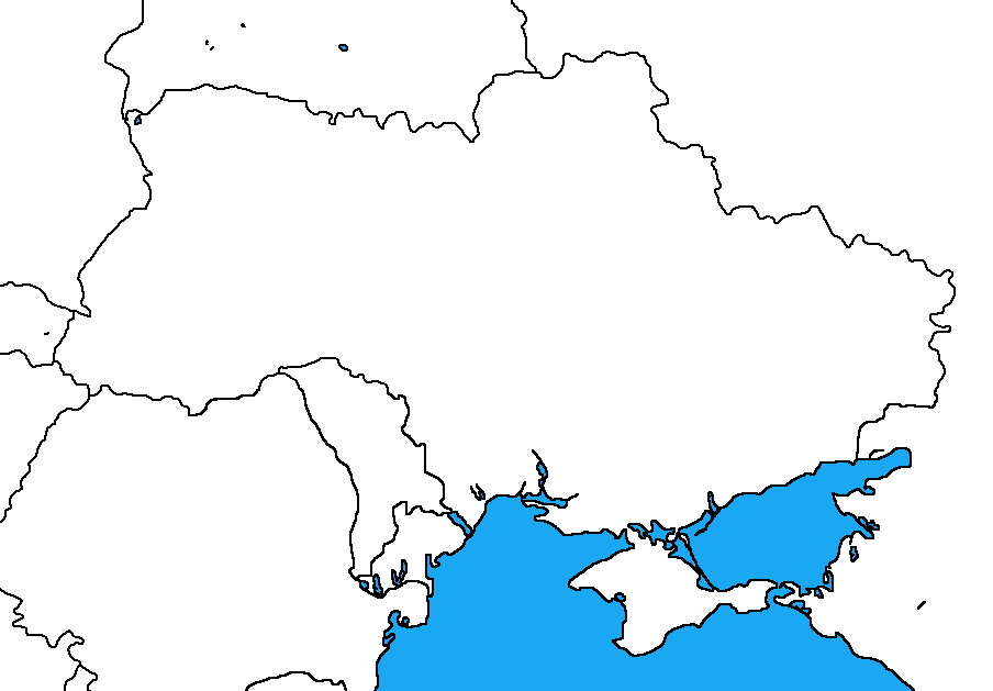 Ukraine Map Outline Blank map of Uk...