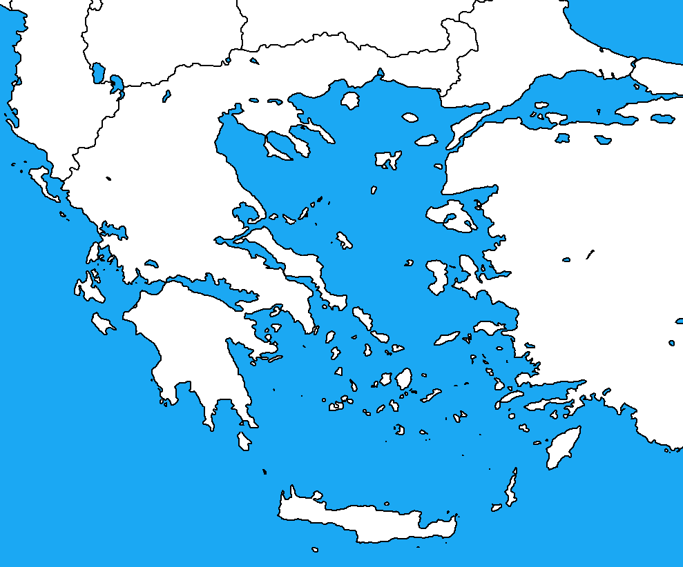 Blank Map Of Greece Blank map of Greece by DinoSpain on DeviantArt