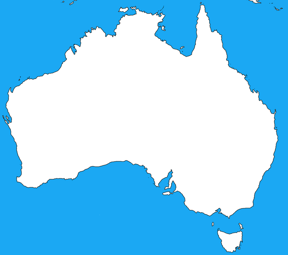 Blank map of Australia by DinoSpain on DeviantArt