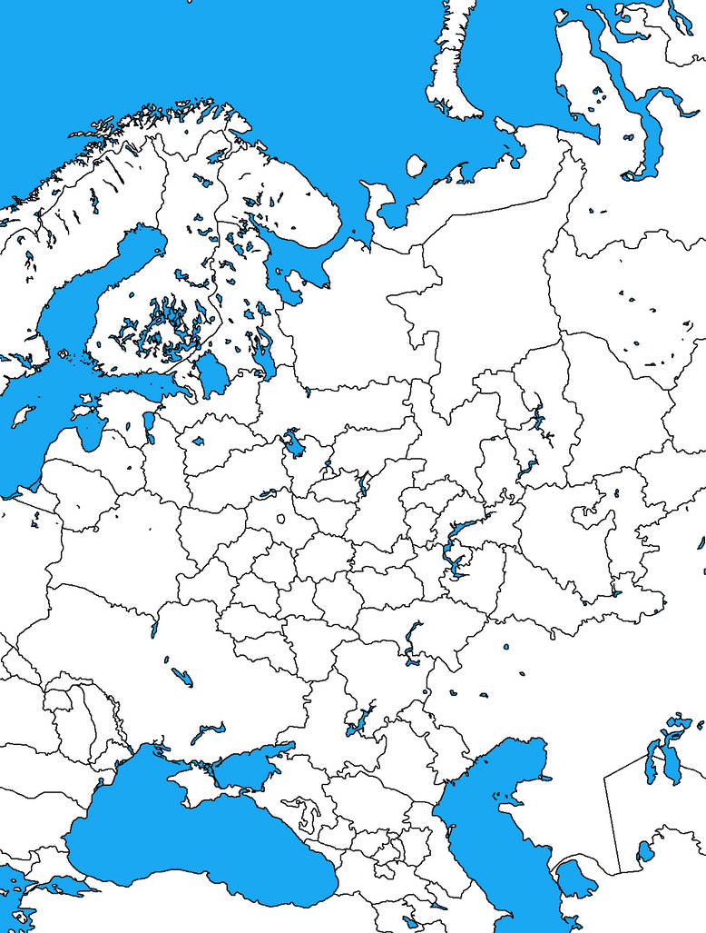Blank map of European Russia by DinoSpain on DeviantArt