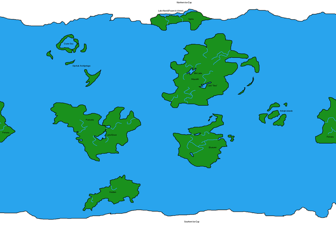 Fantasy World Map by DinoSpain on DeviantArt