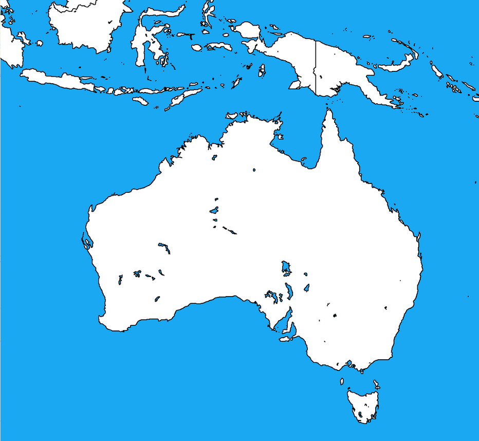 Blank map of australia and parts of indonesia by dinospain on deviantart blank map of australia and parts of indonesia by dinospain gumiabroncs Image collections
