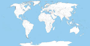 World blank map with rivers by DinoSpain on DeviantArt