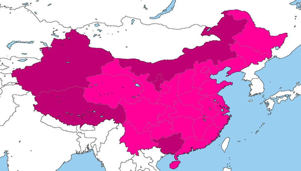 Peoples Republic Of China By DinoSpain On DeviantArt - Peoples republic map