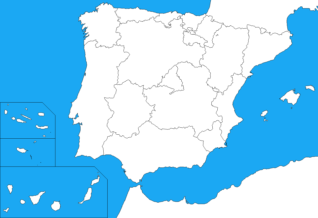 Blank map of the Iberian Peninsula by DinoSpain on DeviantArt