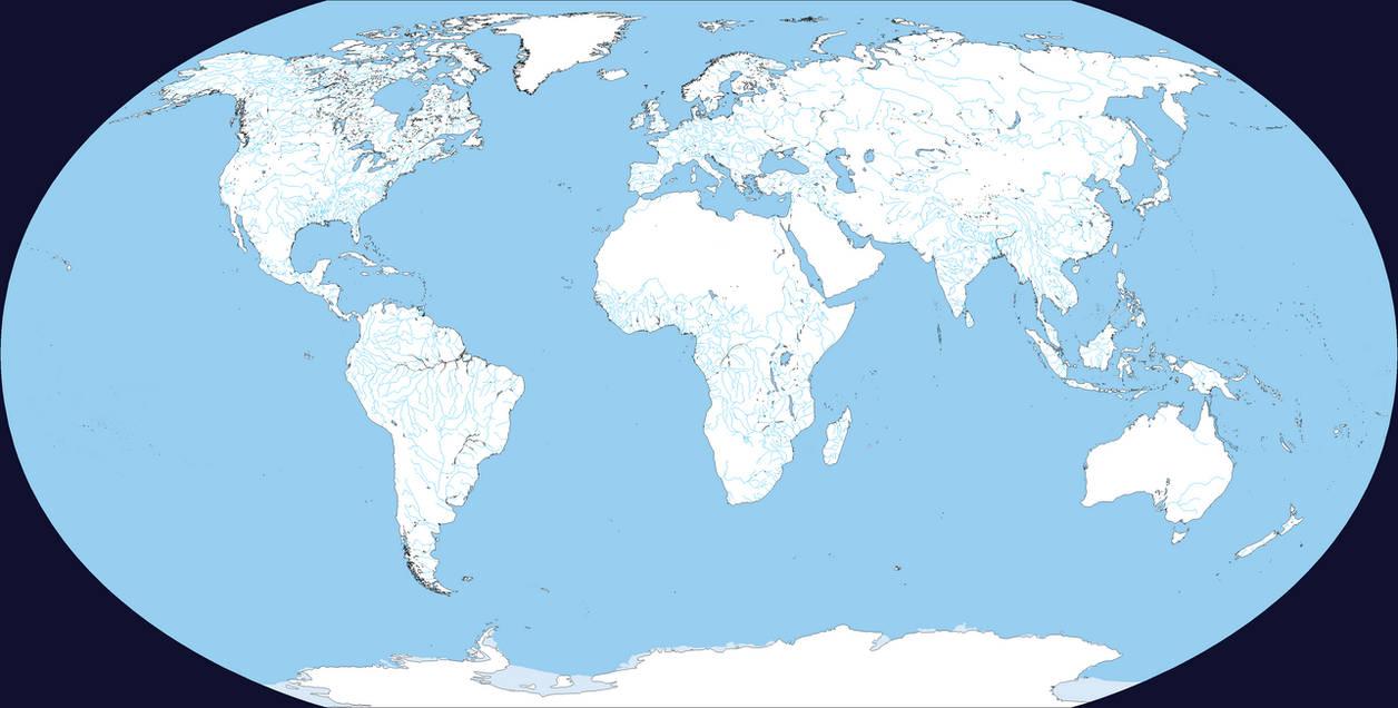 Basic World Map (V 2.0.): Rivers only by DinoSpain on DeviantArt