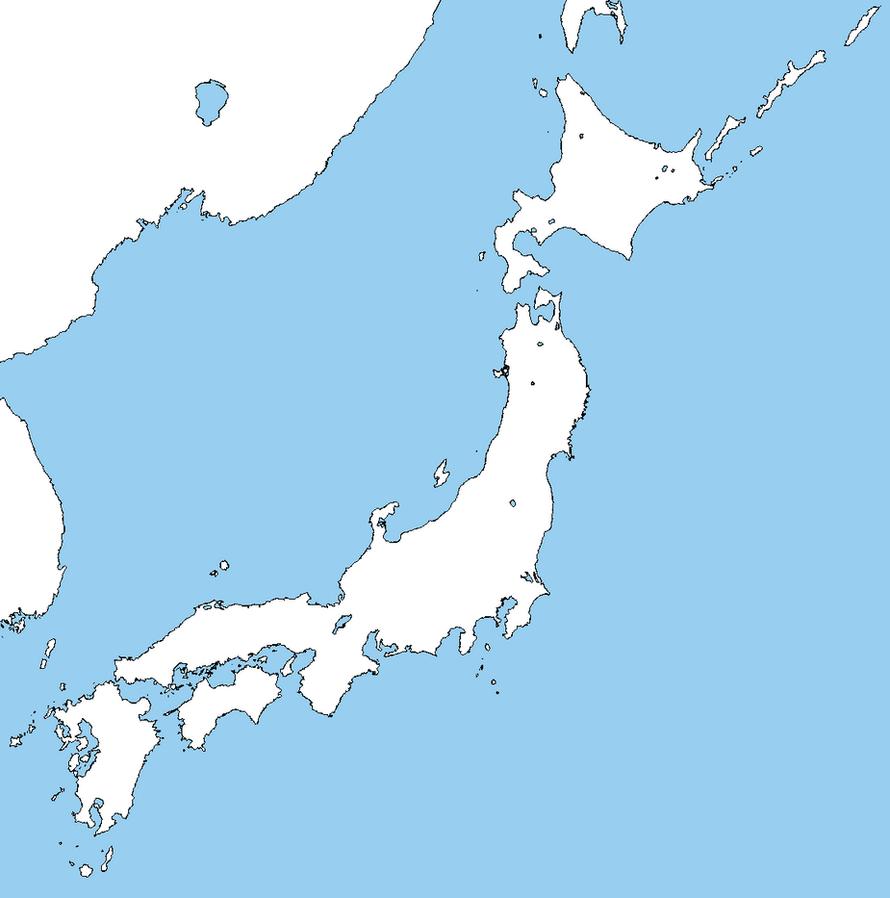 Blank map of Japan by DinoSpain on DeviantArt