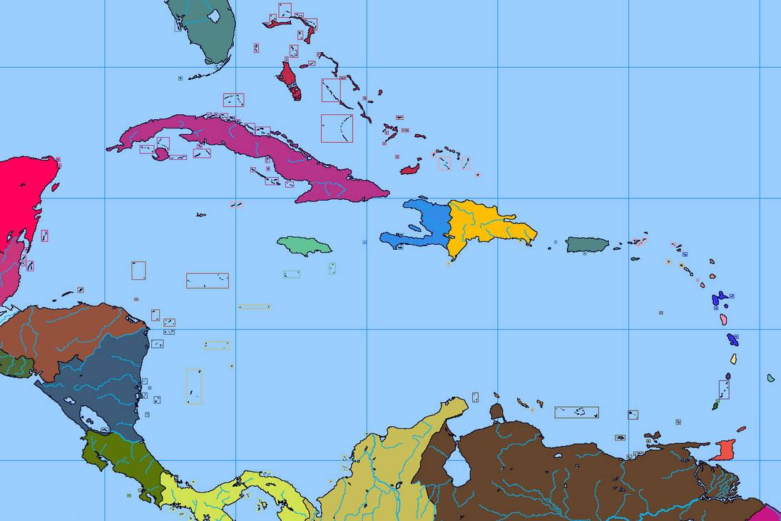 Blank map of the Caribbean by DinoSpain on DeviantArt