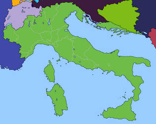 Greater Italy by DinoSpain
