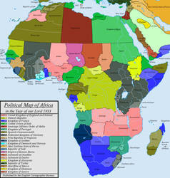 Political Map of Africa in 1883 (ATL)
