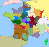 Map of French Provinces in 1789