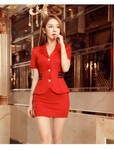Slutty Asian Stewardess In Red 01 by Kungfueric