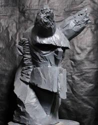 Hellboy bust by oscarkein