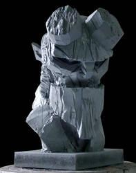 HellBoy bust 2 by oscarkein