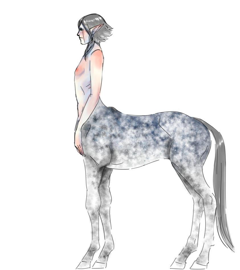 Female centaur by TinySkyfall