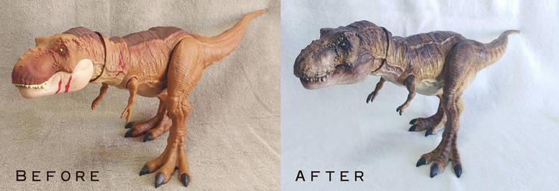 Mattel Jurassic World Legacy T-rex Repaint