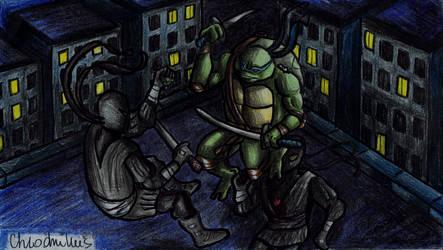 Leo fighting foot by Chlodnikus