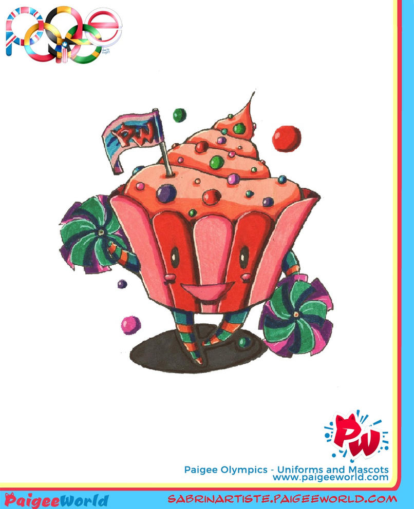 Olympic cupcake by carmina04
