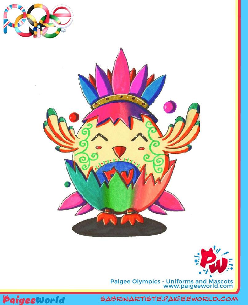Olympic chicken mascot by carmina04