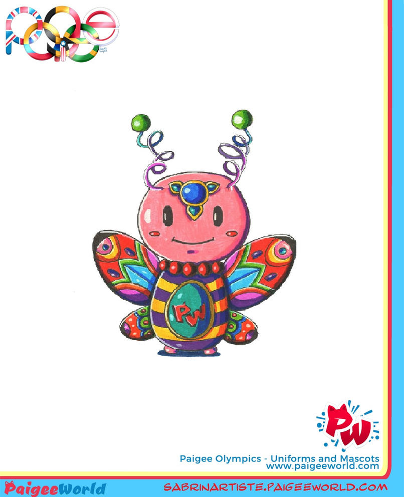 Butterfly olympic mascot by carmina04