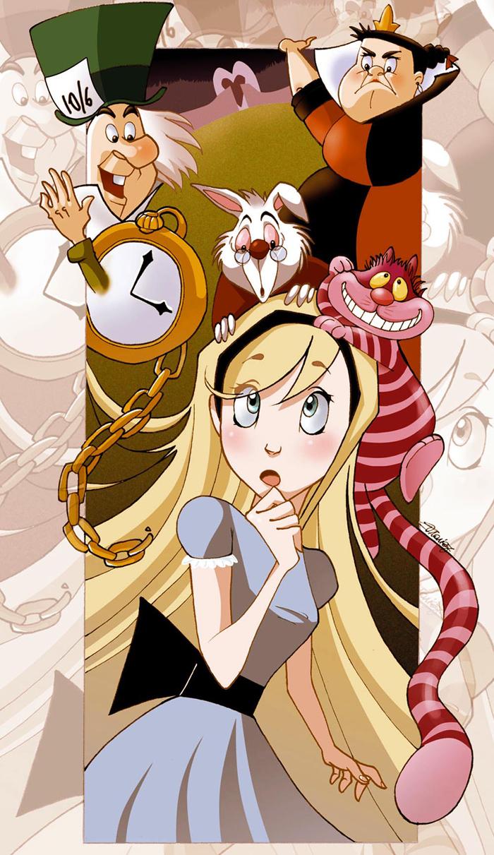 Alice in wonderland by yunamoonflower