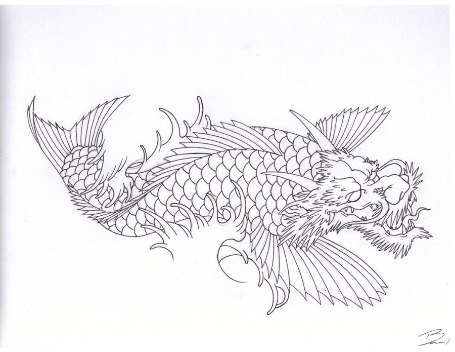 Dragon koi by ianmangan on deviantart for Black dragon koi