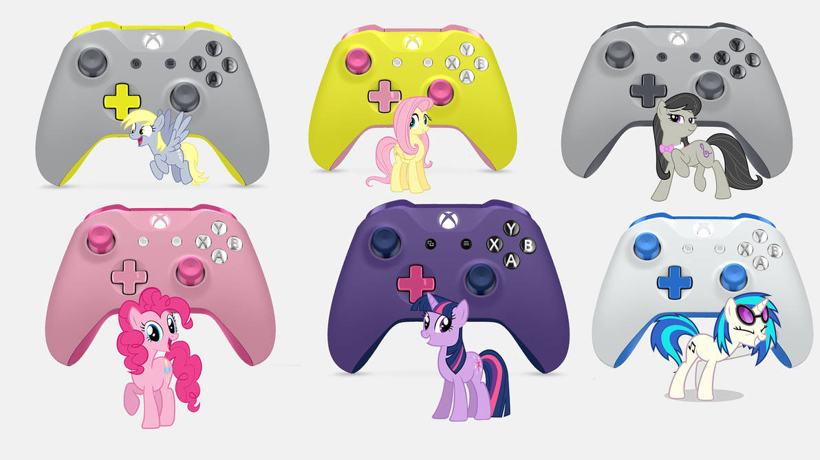 MLP Xbox Design Lab Controllers by SketchMedia