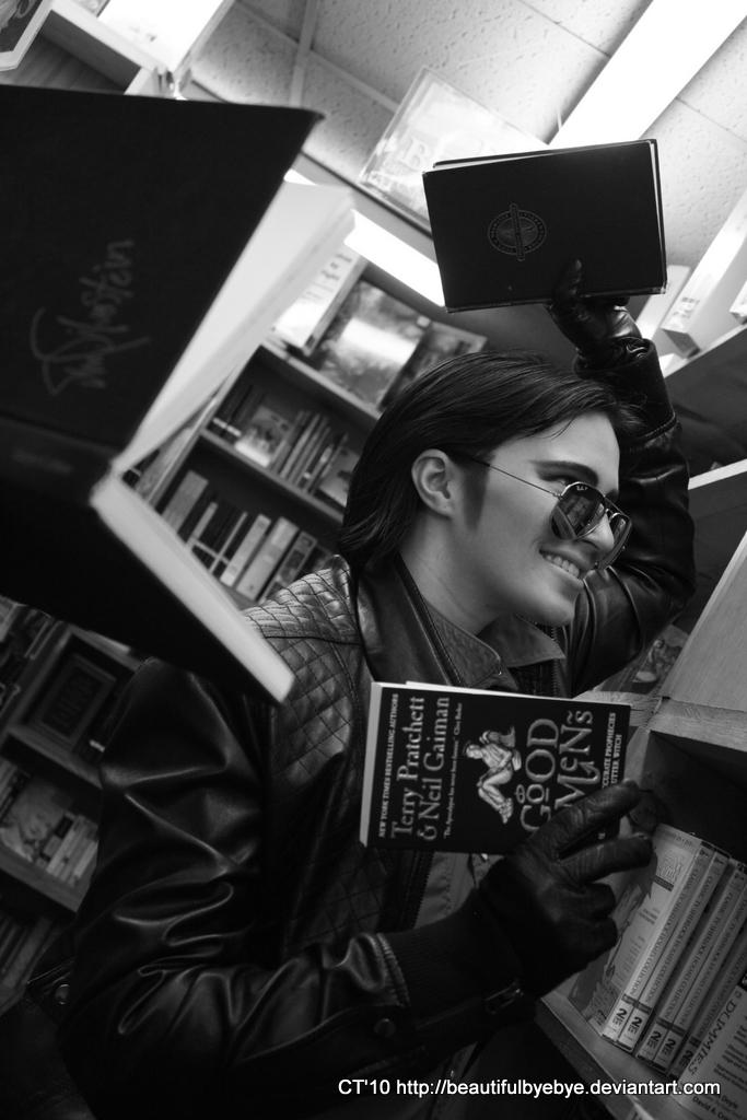 In Aziraphale's Bookshop 2 by leaux