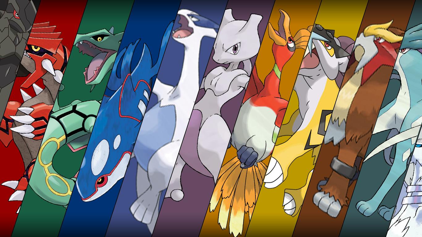Legendary Pokemon Wallpaper (1, 2, 3