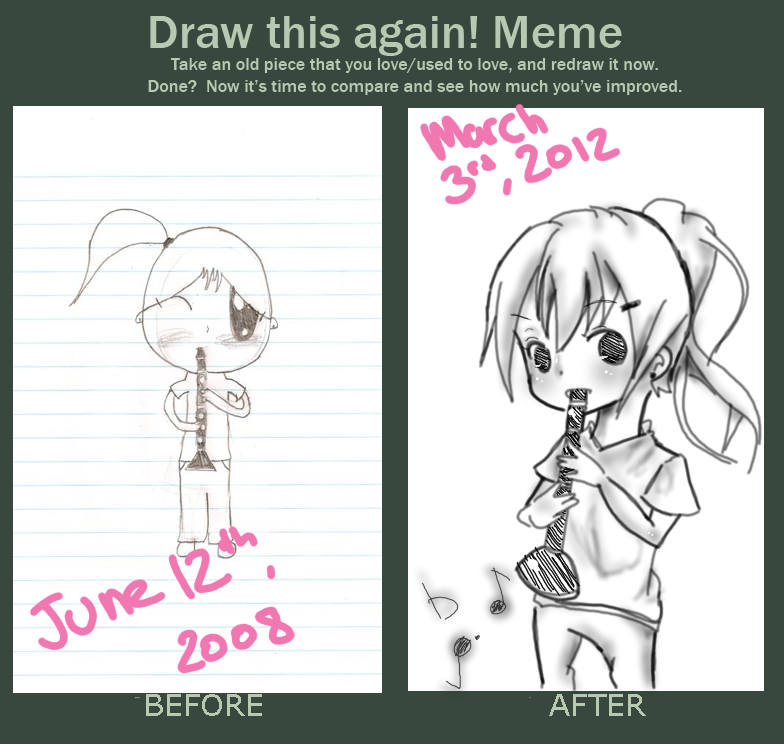 Draw this again meme by rabupep on deviantart for Draw this again meme template