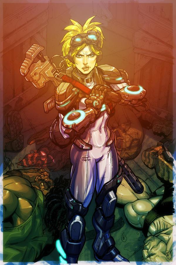 StarCraft Nova cover color by Chuckdee