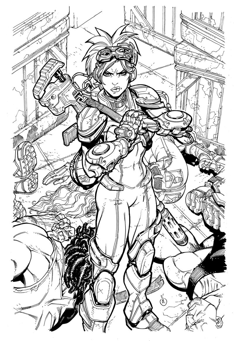 StarCraft Nova cover BW by Chuckdee