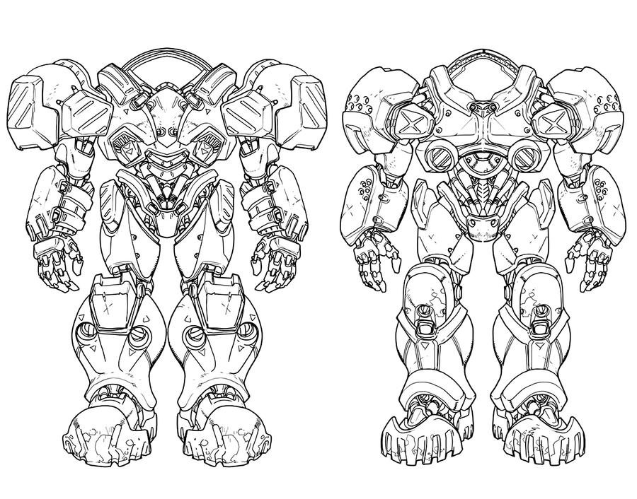 StarCraft Armour Designs By Chuckdee