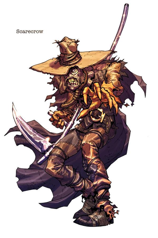 Arkham 'ScareCrow' bio-image by Chuckdee