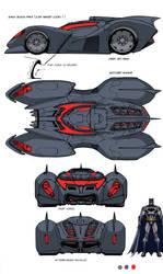 DCU MMO Batmobile design by Chuckdee