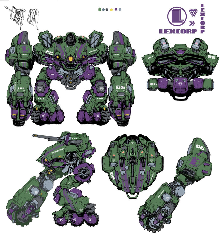 LexCORP 'heavy assault' Walker by Chuckdee
