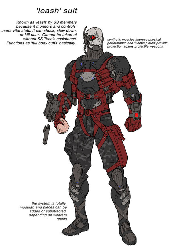 Deadshot Redesign Armour design 4 by Chuckdee