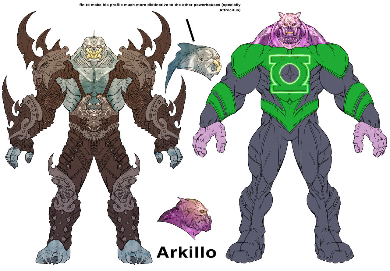 Arkillo and Kilowog by Chuckdee