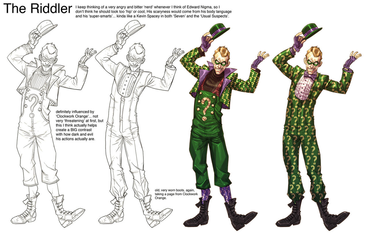how to draw the riddler from arkham city
