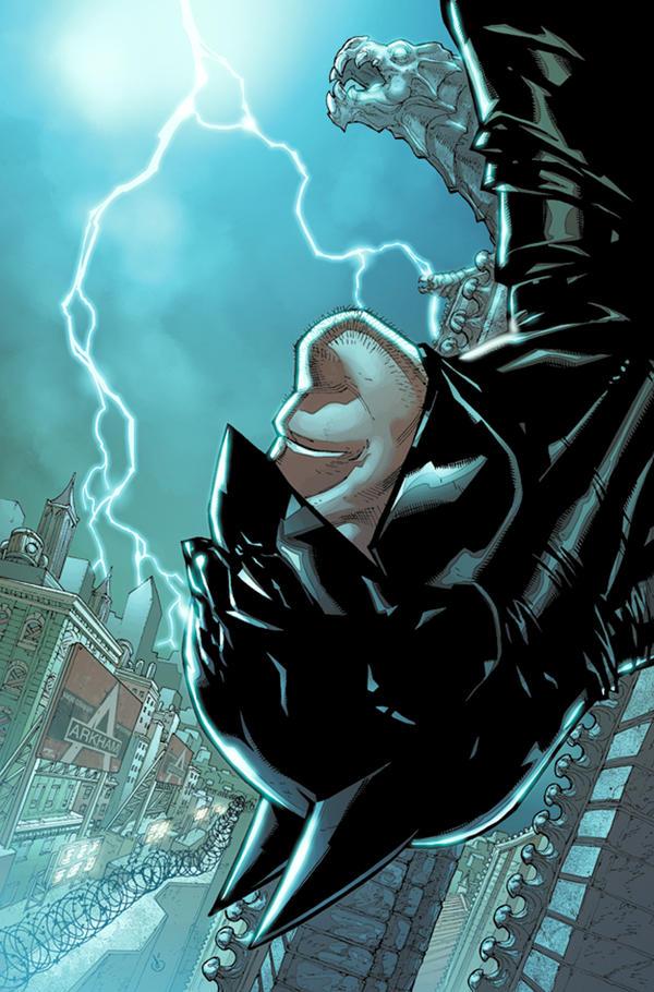 ArkhamCity Batman hangin'color by Chuckdee