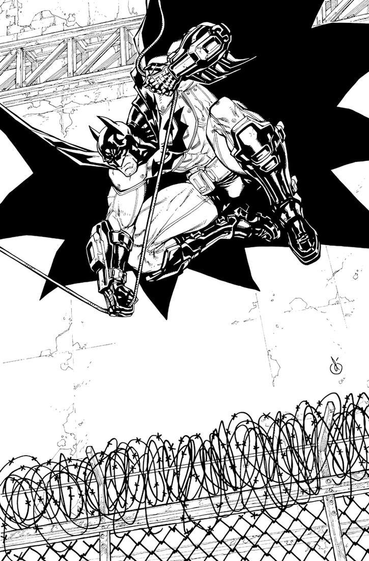 ArkhamCity Batmanjumpin' by Chuckdee