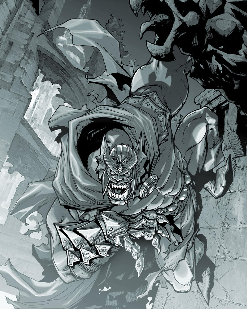 DCO.MMO.Etrigan greys by Chuckdee