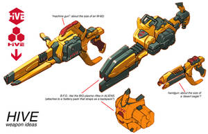 DCOMMO.HIVE.weapon ideas by Chuckdee