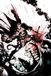 Hellboy... stabbing stuff!